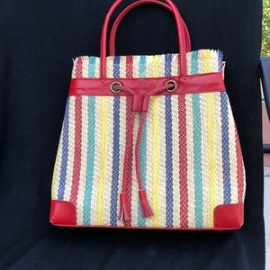 LULU GUINNESS SUMMER STRAW TOTE